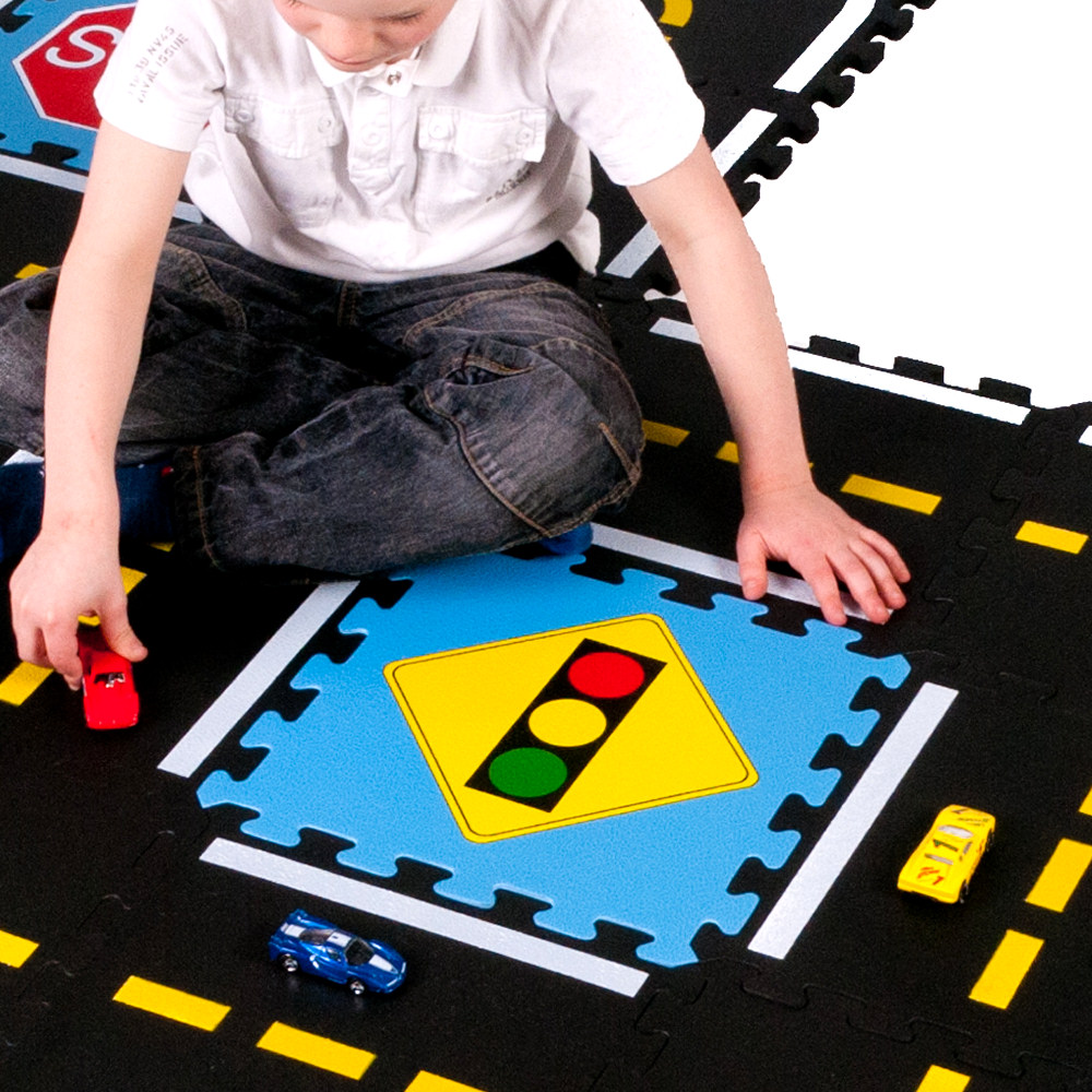Road Car Theme Soft Play Mat (18 Tiles)