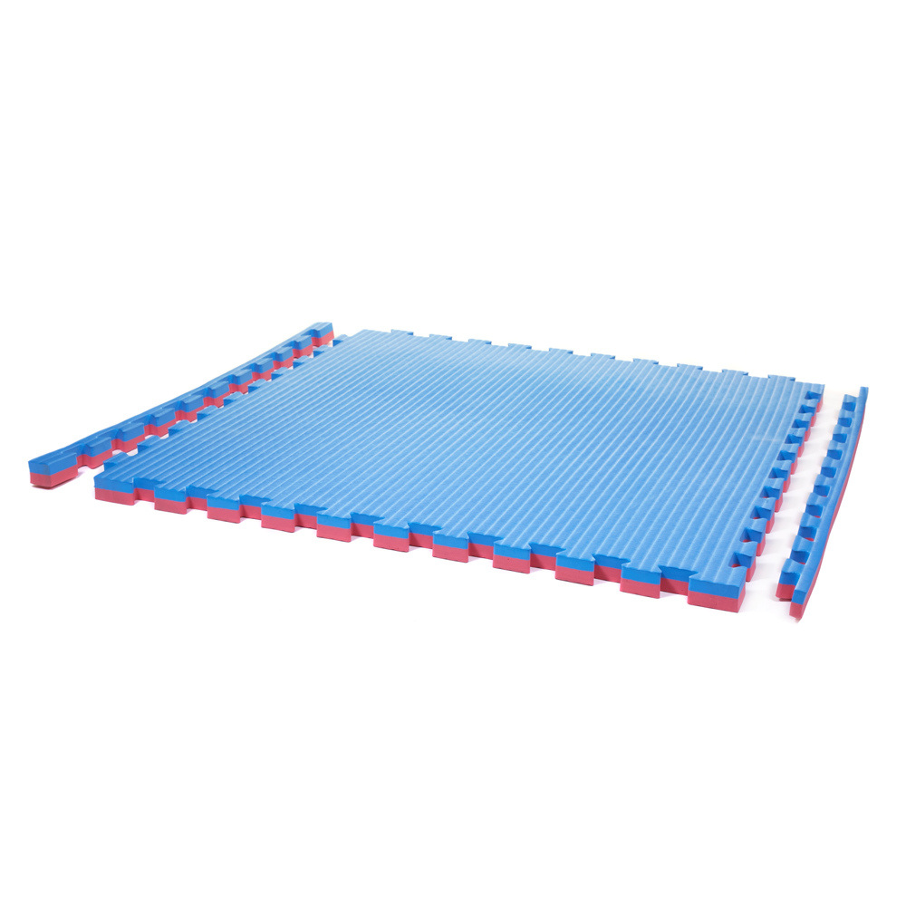 Large 40mm Safety Tumble Mat Blue Red Soft Floor Kids