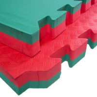Large Soft Touch Safety Mats 40mm Red Green Softfloor