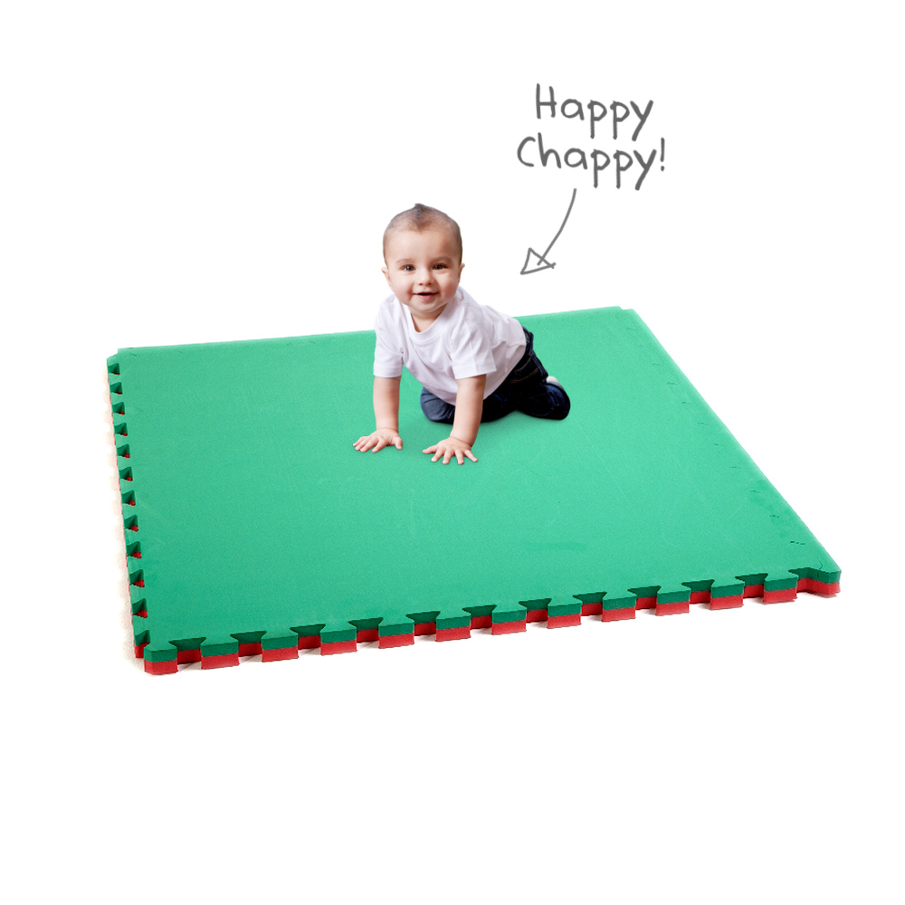 Large Soft Touch Safety Mats 40mm Red Green Soft Floor