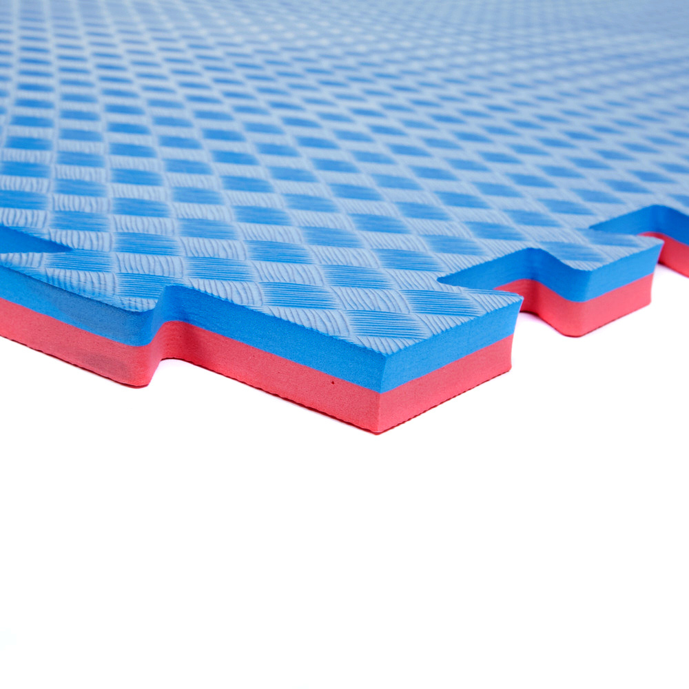 Large 1m Safety Tumble Mats (Red Blue) - Soft Floor KIDS on
