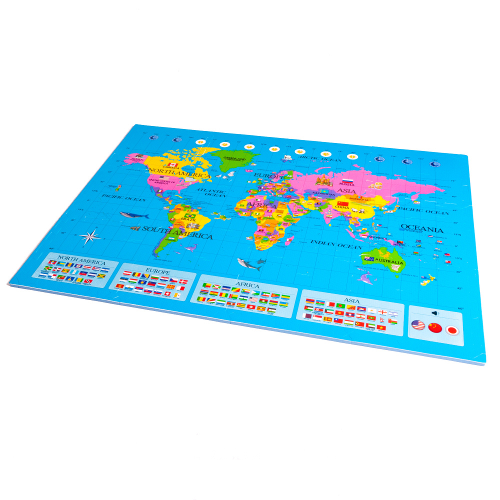 World Map Soft Play Mat (12 tiles) - Soft Floor KIDS